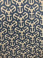 Hermes Paris 7128 FA Silk Designer Luxury Necktie France Anchor Blue White EUC