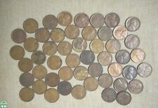 ROLL OF 1924-D CIRCULATED LINCOLN WHEAT CENTS WITH PROBLEMS - 50 COINS