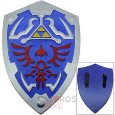 Zelda Shield FOAM Links Triforce Replica Latex Prop Blue Weapon Cosplay Costume