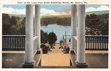 MT GRETNA PENNSYLVANIA HOTEL CONEWAGO PORCH~VIEW OF THE LAKE FROM PORCH POSTCARD