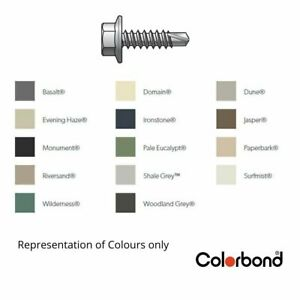 10g-16x16mm Hex Head Metal Fencing Screw - Painted to match the Colorbond range.