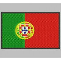 Parche Bordado Bandera de PORTUGAL/ Embroidery patch Flag of PORTUGAL.