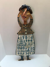 JULIA ARKELL  Blue Choclate Paper Mache and Collage 1997