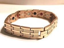 Authentic Negative Ion Effect Bracelet Men's ROSE gold balance stainless steel