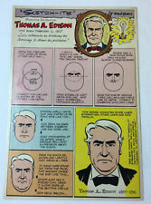 1966 cartoon page ~ THOMAS ALVA EDISON