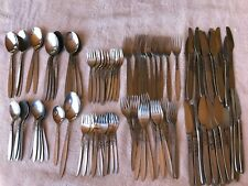 Amefa Holland Tulip Time Flatware Stainless 103 Pieces Knife Fork Spoon MCM