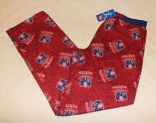 Melbourne Demons AFL Mens Maroon Printed Flannel Sleep Pants Size L New