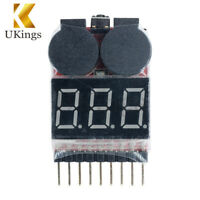 3pcs RC Battery Low Voltage Tester 1S-8S Buzzer Alarm Checker LED Indicator USA