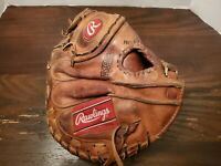 Vintage Rawlings Gold Glove Series HEBO1 Right Hand Catchers Mitt Pro Design
