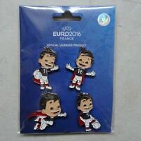 Pin Anstecknadel UEFA Euro 2016 EM Frankreich Maskottchen Set 5 Stück NEU (2)