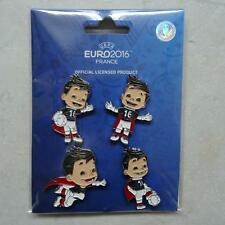 Pin prendedor UEFA Euro 2016 em francia mascota set 5 unidades nuevo (2)