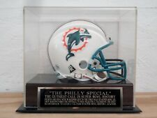 Football Mini Helmet Case With A Philadelphia Eagles Philly Special Nameplate