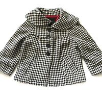 SANCTUARY CLOTHING Womans Jacket Black And White Gingham Print Size Small