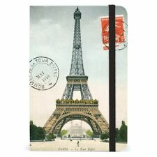 Cavallini - Small Lined Pocket Notebook 4x6ins - Paris Eiffel Tower - 256 Pages