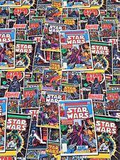 Star Wars Fabric Vintage Comic Book Covers Darth Vader Princess Leia C3PO 1/2Y