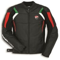 DUCATI Dainese CORSE C3 Lederjacke Jacke Leather Jacket perf. all black NEU %%%