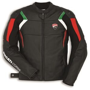 Ducati Dainese Corse C3 Leather Jacket Perf. All Black New %%%