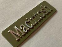 Macintosh 128K M0001 Rear Aluminum Case emblem Mac 128K metal tag