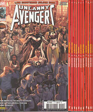 UNCANNY AVENGERS N° 1 à 11 Marvel france 2EME SERIE Panini 12 comics COMPLET