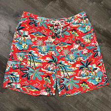 Polo Ralph Lauren Board Shorts 3XL Aloha Beach Swim Trunks Kailua Red Hawaiian