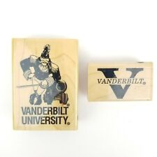 Lot of 2 Vanderbilt University Wood Mounted Rubber Stamps Tennessee