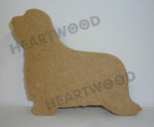 BEARDED COLLIE DOG SHAPE MDF (110mm x 18mm thick)/WOODEN BLANK CRAFT SHAPE