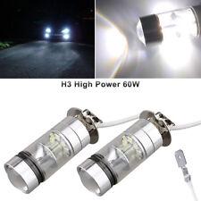 2x 6000k White LED H3 High Power 200W 2835 20SMD Car Fog Light Bulbs DRL US Fast
