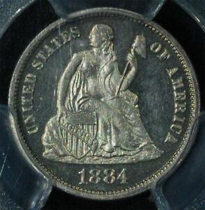 1884 Liberty Seated Dime:  PCGS PR65CAM CAC Cameo Proof