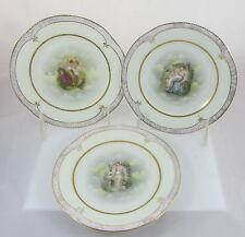 Antique ZS Bavaria Cupid&Psyche 3 Designs Porcelain Dessert Plates Set 12