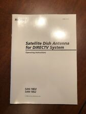 OWNERS MANUAL ~ SONY Satellite Dish Antenna DIRECTV System ~ SAN-18D2 & SAN-18S2