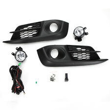 For 2016 2017 Honda Civic Clear Fog Lights Kit w/Bezel Switch Wiring Left Right
