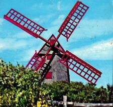OLDEST working mill in USA The Old Mill Nantucket Massachusetts Vintage Postcard