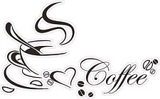 """Smoking Hot Coffee Wall Decor Decal is 10""""x 6"""" in size. FREE SHIPPING"""