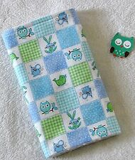 New listing Handcrafted, Flannel, Blue Animal Print & White Bubble Minky, Baby Burp Cloth