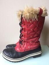 Women's Sorel Tofino Red Winter Waterproof Boots size 7