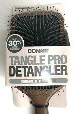 New Conair Tangle Pro Detangler Normal & Thick Hair Wood Paddle Wet Dry Brush
