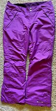 Columbia Snow Pants Purple Insulated Pants Size Womens XL