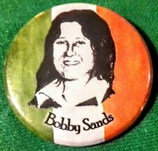 IRISH REPUBLICAN TIN BADGE BOBBY SANDS WE REMEMBER LONG KESH SINN FEIN BELFAST