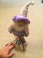 "VINTAGE Porcelain Clown on a large wheel Bike, Bicycle, Circus, Magic 16"" VGC"