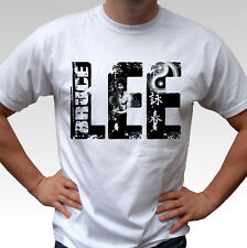 LEE Bruce Lee white t shirt top - mens and kids sizes