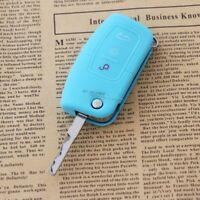 Schlüsseltasche Schlüsseletui Silikon Key Cover HELLBLAU für FORD FOCUS 2