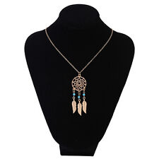 Fashion Women Dream Catcher Feather Pendant long Chain  Necklace Jewelry BYCX18