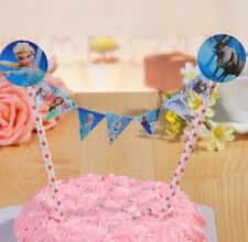 Birthday Cake Toppers Flags Bunting Banner/Party FROZEN/ DISNEY PRINCESS