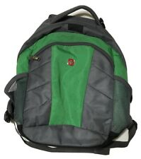 "SwissGear Swiss Gear Comfort Fit Laptop Backpack Gray & Lime Green 16""x12""x 4"""