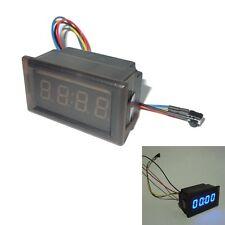 Blue New LED Waterproof Vehicle-mounted Digital Clock Car Accessories v#h9