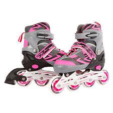 Kinder Inlineskates Inline Skates Inliner rosa pink / grau verstellbar Gr. 35-38