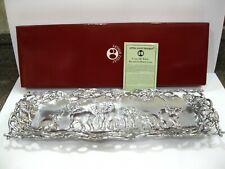 "New 1997 Arthur Court Aluminum Elephant Tray 19"" x 6 1/2"" Signed Open Lattice"