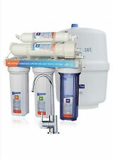 6 stage RO 50GPD reverse osmosis water filter with Alkaline filter + SS Tap