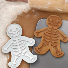 Skeleton Gingerbread Man Plunger Biscuit Cookies Cutter Cake Baking Mould Tools