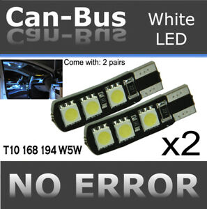 4 pc T10 168 194 White 6 LED Samsung Chips Canbus Replace Parking Lights L472